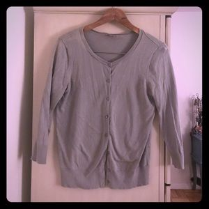 Loft classic grey cardigan size small